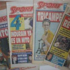 Coleccionismo deportivo: LOTE MIGUEL INDURAIN - 14 DIARIO SPORT + 7 M. DEPORTIVO - TOUR FRANCIA + GIRO - CICLISMO - ABS. Lote 44090566