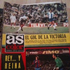Coleccionismo deportivo: REVISTA PERIODICO AS COLOR Nº136 NUMERO 136 - SIN POSTER - AMANCIO AMARO PIRRI REAL MADRID. Lote 40310723