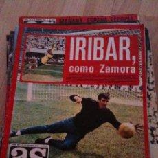 Coleccionismo deportivo: REVISTA PERIODICO AS COLOR Nº183 NUMERO 183 - SIN POSTER IRIBAR COMO ZAMORA MIGUEL ANGEL REAL MADRID. Lote 40408307