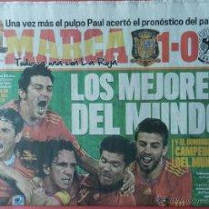 Coleccionismo deportivo: DIARIO MARCA SELECCION ESPAÑOLA CAMPEONA MUNDIAL 2010 SEMIFINALES ESPAÑA CAMPEON ALEMANIA SUDAFRICA. Lote 40487565