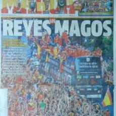 Coleccionismo deportivo: DIARIO MARCA SELECCION ESPAÑOLA CAMPEONA EURO 2012 CELEBRACION ESPAÑA - EUROCOPA 12 POLONIA UCRANIA. Lote 40497878