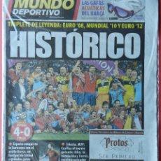 Coleccionismo deportivo: DIARIO MUNDO DEPORTIVO SELECCION ESPAÑOLA CAMPEONA EURO 2012 - FINAL ESPAÑA ITALIA EUROCOPA 12. Lote 40498290