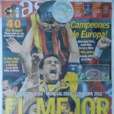 Coleccionismo deportivo: DIARIO AS SELECCION ESPAÑOLA CAMPEONA EURO 2012 - FINAL ESPAÑA - ITALIA EUROCOPA 12. Lote 67644811