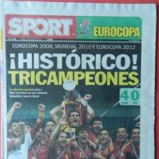 Coleccionismo deportivo: DIARIO SPORT SELECCION ESPAÑOLA CAMPEONA EURO 2012 - FINAL ESPAÑA - ITALIA EUROCOPA 12. Lote 40498546