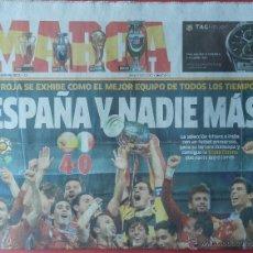 Coleccionismo deportivo: DIARIO MARCA SELECCION ESPAÑOLA CAMPEONA EURO 2012 - FINAL ESPAÑA - ITALIA EUROCOPA 12. Lote 40498972