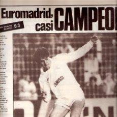 Coleccionismo deportivo: AS. DIARIO GRÁFICO DEPORTIVO. Nº 5467. 9 MAYO 1985. EL EUROMADRID, CASI CAMPEÓN.. Lote 40524007