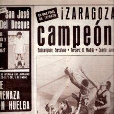 Coleccionismo deportivo: AS. DIARIO GRÁFICO DEPORTIVO. Nº 5026. 2 DICIEMBRE 1983.CAI ZARAGOZA CAMPEON COPA DEL REY.BALONCESTO. Lote 40524335