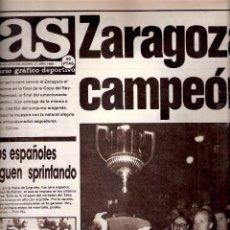 Coleccionismo deportivo: AS. DIARIO GRÁFICO DEPORTIVO. Nº 5766. 27 ABRIL 1986. REAL ZARAGOZA,CAMPEÓN COPA DEL REY.. Lote 40524575