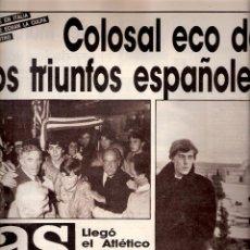 Coleccionismo deportivo: AS. DIARIO GRÁFICO DEPORTIVO. Nº 5758. 18 ABRIL 1986.. Lote 40524608