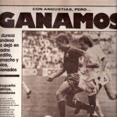 Coleccionismo deportivo: AS. DIARIO GRÁFICO DEPORTIVO. Nº 5802. 8 JUNIO 1986.. Lote 40524744