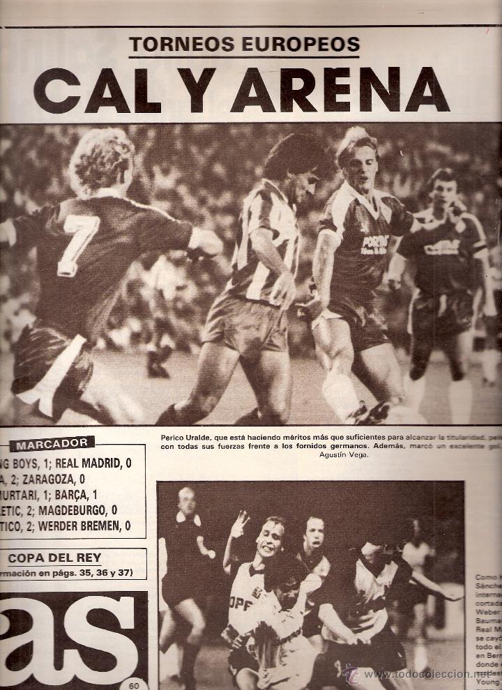 AS. DIARIO GRÁFICO DEPORTIVO. Nº 5892. 18 SEPTIEMBRE 1986. (Coleccionismo Deportivo - Revistas y Periódicos - As)