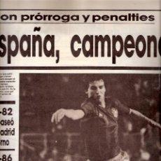 Coleccionismo deportivo: AS. DIARIO GRÁFICO DEPORTIVO. Nº 5928. 30 OCTUBRE 1986. ESPAÑA. CAMPEONA DE EUROPA SUB-21.. Lote 40525127