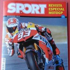 Coleccionismo deportivo: REVISTA EXTRA DIARIO SPORT MARC MARQUEZ CAMPEON MOTOGP 2013 ESPECIAL MUNDIAL MOTOCICLISMO 13 MOTO GP. Lote 40538278