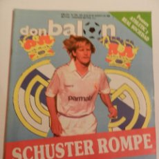 Coleccionismo deportivo: DON BALON 670 SCHUSTER REAL MADRID-LANDABURU-LOPETEGUI-CLEMENTE-SANTILLANA-LICERANZU ELCHE-ATHLETIC. Lote 40638580