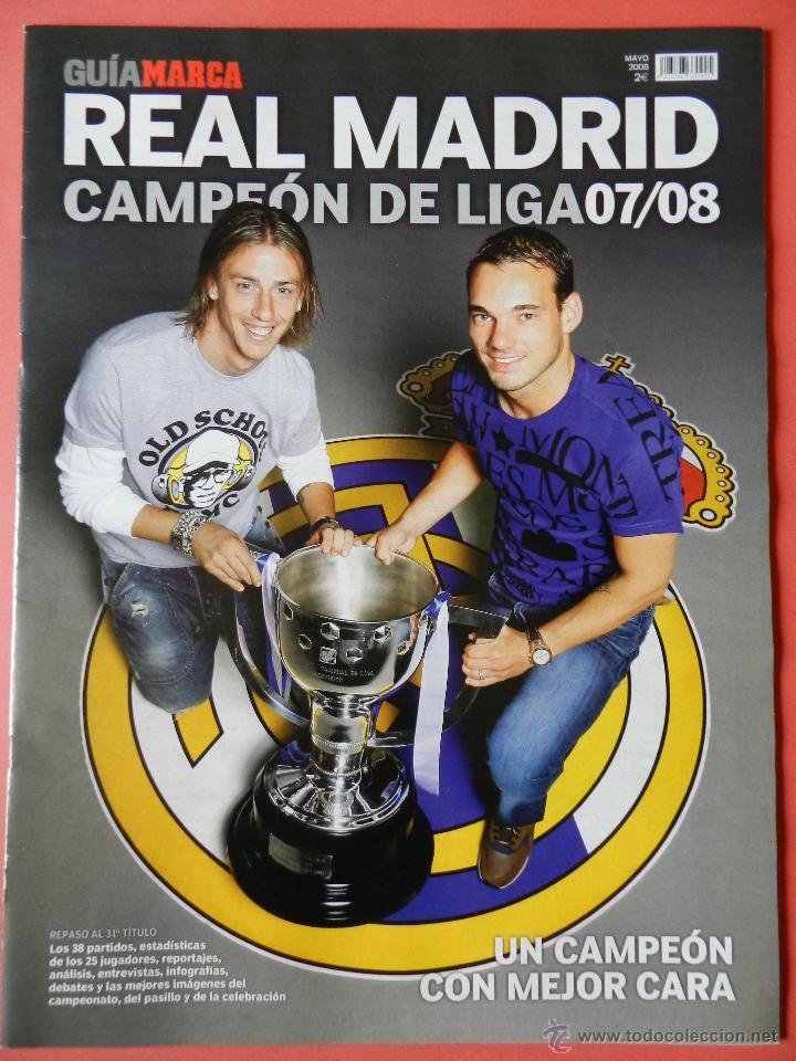 REVISTA SUPLEMENTO ESPECIAL MARCA REAL MADRID CAMPEON DE LIGA 2007/2008 - FOTOS RESUMEN GRAN FORMATO (Coleccionismo Deportivo - Revistas y Periódicos - Marca)
