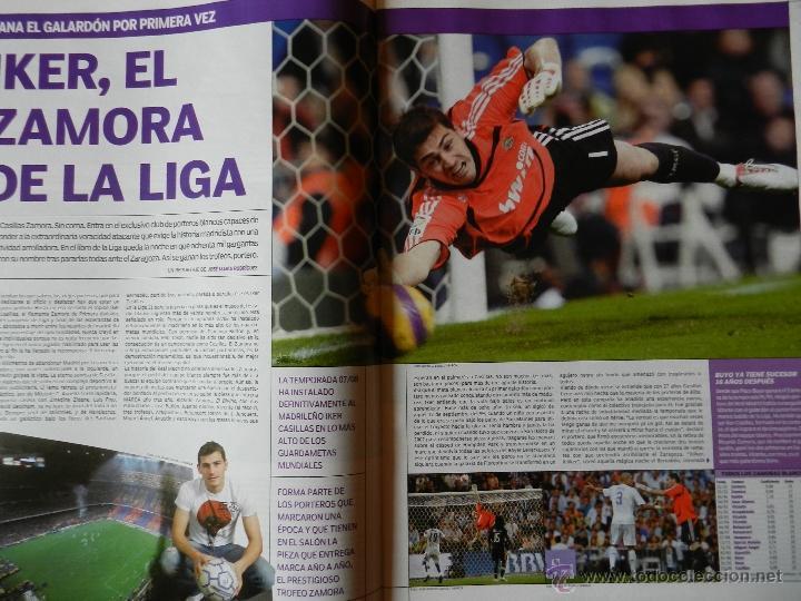 Coleccionismo deportivo: REVISTA SUPLEMENTO ESPECIAL MARCA REAL MADRID CAMPEON DE LIGA 2007/2008 - FOTOS RESUMEN GRAN FORMATO - Foto 3 - 130230556