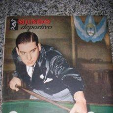 Coleccionismo deportivo: MUNDO DEPORTIVO Nº 14 - TAPA EZEQUIEL NAVARRA (BILLAR) - AÑO 1949 - ARGENTINA - UNICA!!. Lote 40676442
