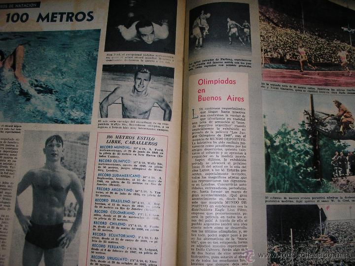 Coleccionismo deportivo: MUNDO DEPORTIVO Nº 14 - TAPA Ezequiel Navarra (BILLAR) - Año 1949 - Argentina - UNICA!! - Foto 4 - 40676442