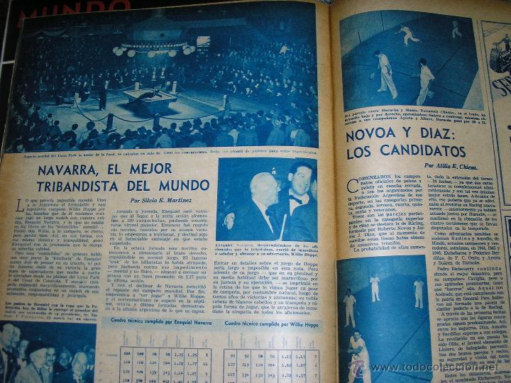 Coleccionismo deportivo: MUNDO DEPORTIVO Nº 14 - TAPA Ezequiel Navarra (BILLAR) - Año 1949 - Argentina - UNICA!! - Foto 5 - 40676442