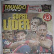 Coleccionismo deportivo: MUNDO DEPORTIVO - BARÇA 2 · REAL MADRID 1 - LIGA - GOLES DE NEYMAR Y ALEXIS - 27/10/2013. Lote 40676562