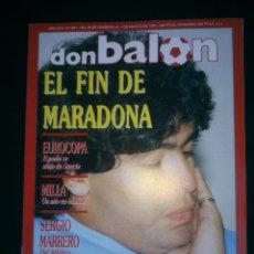 Coleccionismo deportivo: REVISTA DON BALON.Nº801/1991. EL FIN DE MARADONA. Lote 40693585