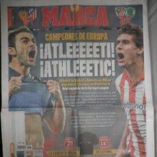 Coleccionismo deportivo: DIARIO MARCA - SEMIFINALES EUROPA LEAGUE - ATLÉTICO DE MADRID - ATHLETIC CLUB BILBAO - 27/4/12 UEFA. Lote 40698902