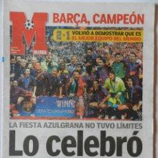 Coleccionismo deportivo: DIARIO MARCA BARÇA CAMPEON CHAMPIONS LEAGUE 2005/2006 PARIS - FC BARCELONA ARSENAL 05/06. Lote 40743045
