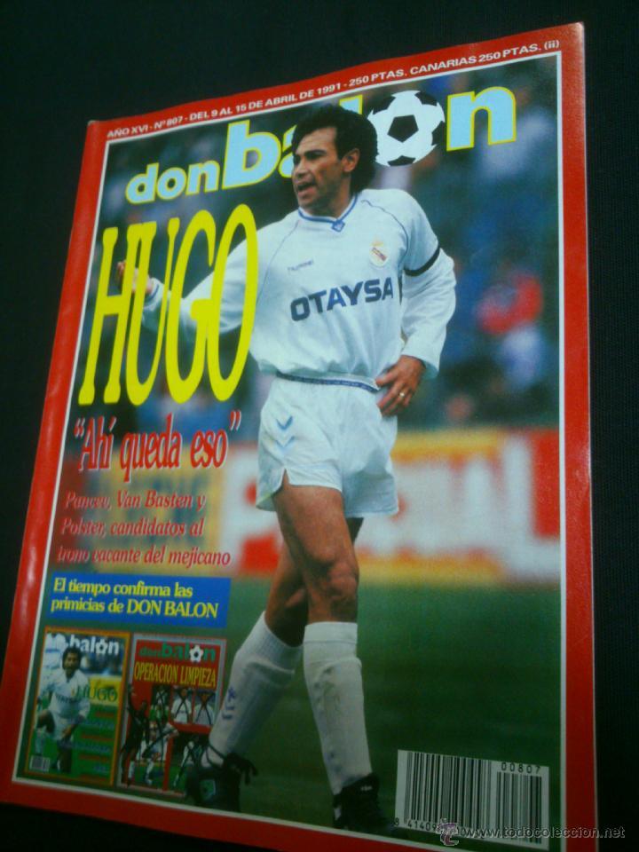 REVISTA FÚTBOL DON BALÓN Nº 807 ABRIL 1991 POSTER OSASUNA 90-91 (Coleccionismo Deportivo - Revistas y Periódicos - Don Balón)