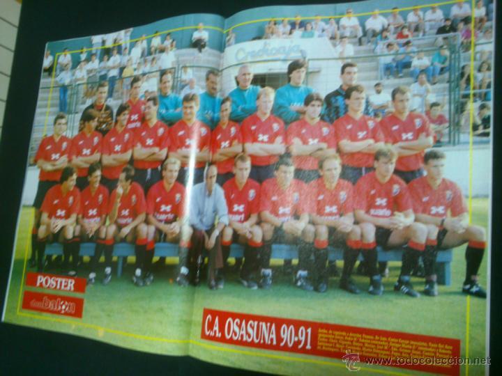 Coleccionismo deportivo: REVISTA FÚTBOL DON BALÓN Nº 807 ABRIL 1991 POSTER OSASUNA 90-91 - Foto 2 - 40829318