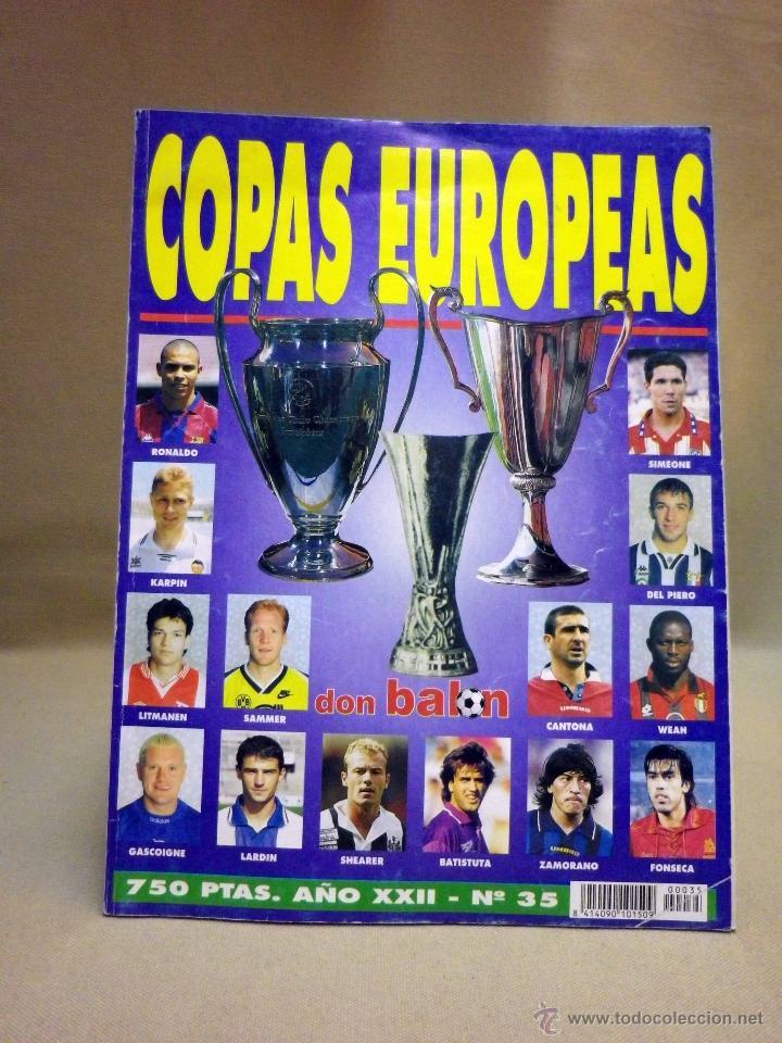 REVISTA DON BALON, COPAS EUROPEAS, Nº 35 (Coleccionismo Deportivo - Revistas y Periódicos - Don Balón)