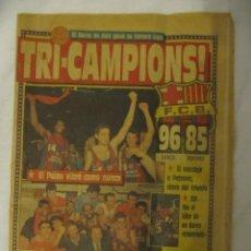 Coleccionismo deportivo: SPORT N.3432 -26-5 -89 - TRICAMPEONES DE BASKET. Lote 40924573