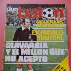 Coleccionismo deportivo: DON BALON 1976 Nº 25 CRUYFF BARÇA-ATLETICO DE MADRID-REAL MADRID-SUPER PACO SEVILLA-JUANITO HERCULES. Lote 40962098