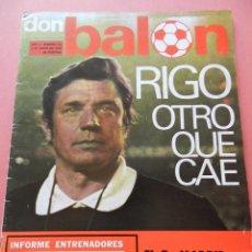 Colecionismo desportivo: DON BALON 1976 Nº 31 CRUYFF-IRIBAR-DIARTE ZARAGOZA-POSTER BURGOS-ROBI SALAMANCA-HERRERA LAS PALMAS. Lote 40963646