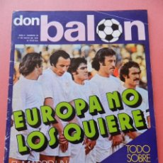 Coleccionismo deportivo: DON BALON 1976 Nº 32 POSTER REAL MADRID CAMPEON LIGA 75/76-KUBALA-CRUYFF-DI STEFANO-GALLEGO SEVILLA. Lote 40963677