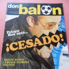 Colecionismo desportivo: DON BALON 1976 Nº 48 ATOCHA-CD TENERIFE-UD LAS PALMAS-LUIS SUAREZ-RUBEN CANO ADELARDO-GROSSO-SADURNI. Lote 40965327