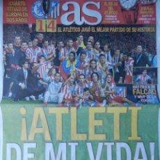 Coleccionismo deportivo: DIARIO AS - ATLETICO DE MADRID CAMPEON SUPERCOPA EUROPA 2012 - ATLETI CHELSEA 11/12. Lote 40973556