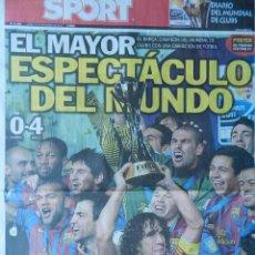 Coleccionismo deportivo: DIARIO SPORT BARÇA CAMPEON MUNDIAL CLUBS 2011 - POSTER FC BARCELONA MUNDIALITO 11 CLUBES. Lote 40975497