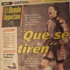 Coleccionismo deportivo: PORTADA PERIODICO EL MUNDO DEPORTIVO 23/2/1997. Lote 40978279