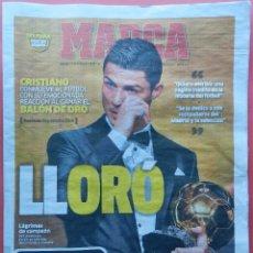 Coleccionismo deportivo: DIARIO MARCA - CRISTIANO RONALDO BALON DE ORO 2013 - REAL MADRID FIFA BALL D'OR 13 . Lote 41017182