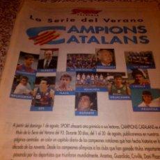 Coleccionismo deportivo: SERIE DEL DIARIO SPORT - CAMPIONS CATALANS - 31 CAPÍTULOS - CASTELLANO - AÑO 1993 - COMPLETO. Lote 41141682