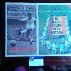 Coleccionismo deportivo: COLECCIONABLES ABC REAL MADRID CAMPEÓN DE EUROPA 1995 I Y II PESO; 60 GRS. Lote 41391314
