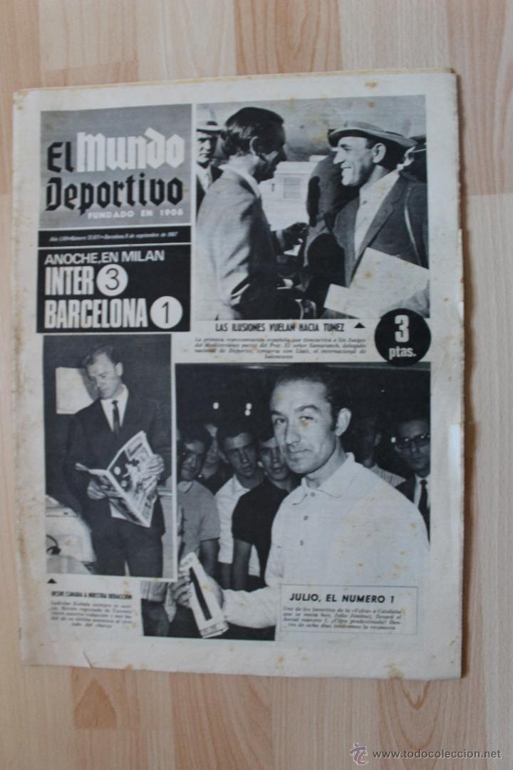 EL MUNDO DEPORTIVO 6 DE SEPTIEMBRE DE 1967 KUBALA (Coleccionismo Deportivo - Revistas y Periódicos - Mundo Deportivo)