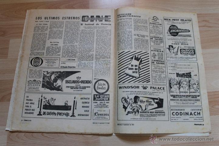 Coleccionismo deportivo: EL MUNDO DEPORTIVO 6 DE SEPTIEMBRE DE 1967 KUBALA - Foto 4 - 41419531