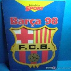Coleccionismo deportivo: CALENDARIO SPORT BARÇA 98 F.C.B. BARCELONA - COMPLETO. Lote 41624637