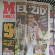 Coleccionismo deportivo: DIARIO MARCA 16 DE MAYO DE 2002 - ZIDANE RECONQUISTÓ LA CHAMPIONS. Lote 42058839