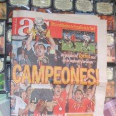 Coleccionismo deportivo: DIARIO AS Nº 13.623. 30 DE JUNIO DE 2008. ESPAÑA CAMPEONA DE LA EUROCOPA. Lote 42059531