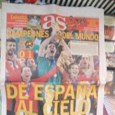 Coleccionismo deportivo: DIARIO AS Nº 14.358. 12 DE JULIO DE 2010. ESPAÑA CAMPEONA DEL MUNDO. Lote 42059810