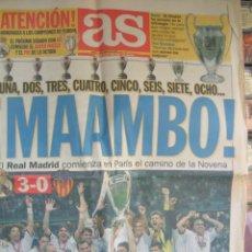 Coleccionismo deportivo: DIARIO AS 25 DE MAYO DE 2000 - 2ª EDICIÓN. Lote 42058739