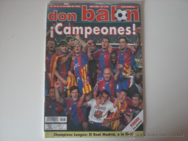 REVISTA DON BALON- Nº 1175 FC.BARCELONA CAMPEÓN DE LIGA 1998 (Coleccionismo Deportivo - Revistas y Periódicos - Don Balón)