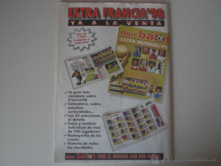 Coleccionismo deportivo: REVISTA DON BALON- Nº 1175 FC.BARCELONA CAMPEÓN DE LIGA 1998 - Foto 6 - 56632027